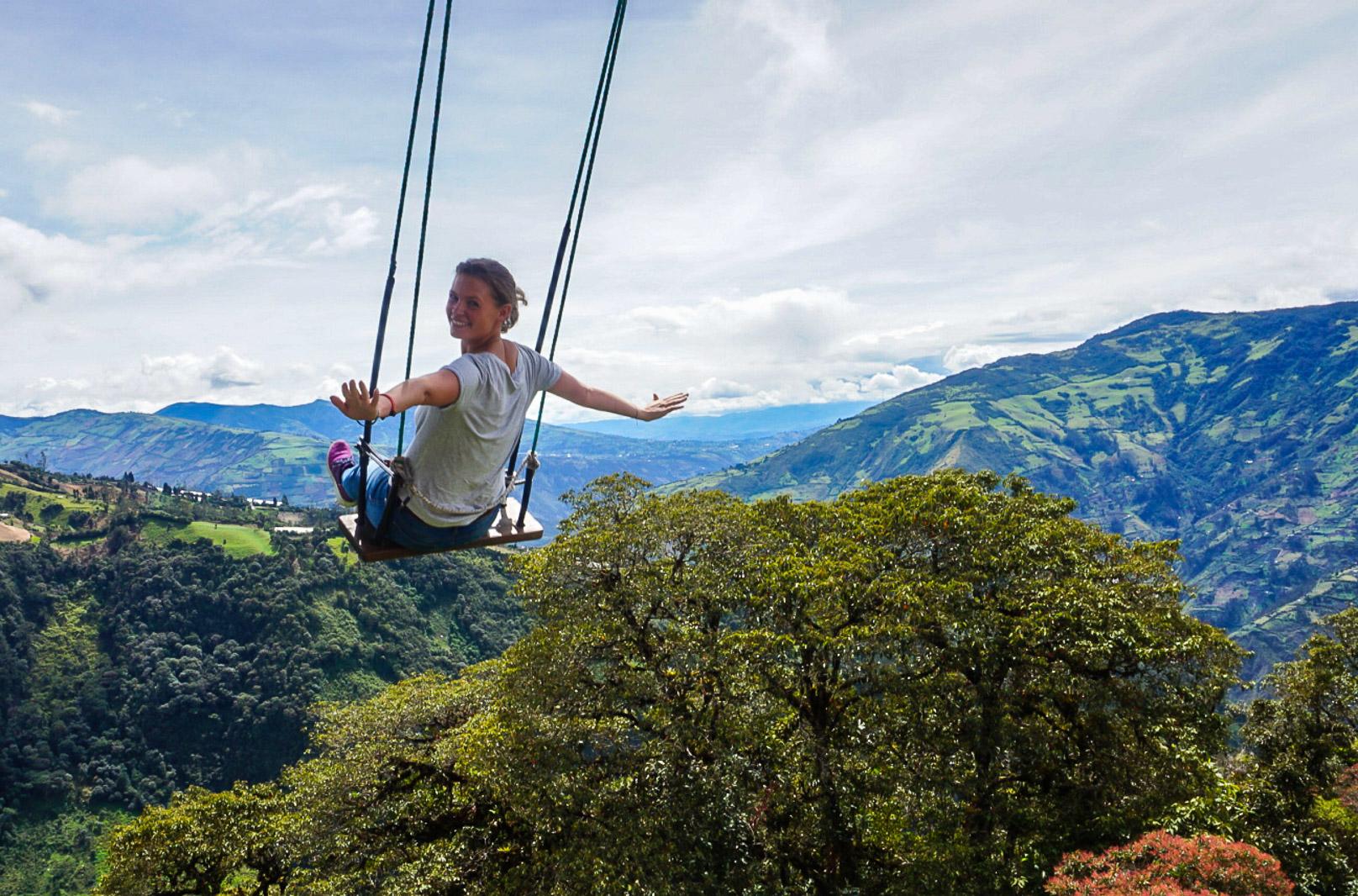 Ecuador_losbanos_swing, olotravel, sharethelove, traveling alone, female travel